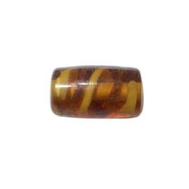Bruine doorzichtige cilinder met lichte strepen