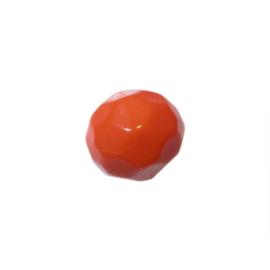 Oranje polyester facet bol
