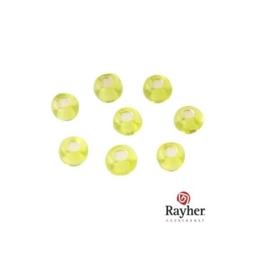 Lichtgroene rocaille met zilverkern 2,6 mm  van Rayher