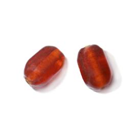 Oranje glaskraal met afgeronde hoeken