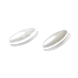 Olijf wasparel van Rayher; Wit 14 x 6 mm