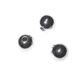 Zilverkleurige ronde kralen van plastic 8 mm, Rayher