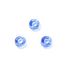 Blauwe glaskraal