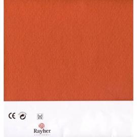Oranje textielvilt soft 30 x 45 cm van Rayher