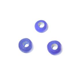 Donkerblauw mat, rond schijfje van glas