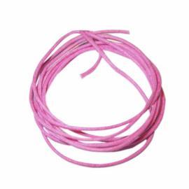 Roze gewaxt katoen 1 mm