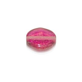 Platte, roze glaskraal
