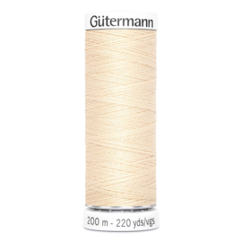Nr 006 Beige Gutermann alles naaigaren 200 m