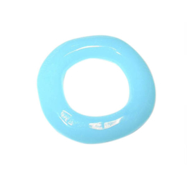 Turquoise polyester ring