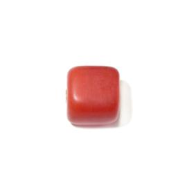 Mat oranje vierkante glaskraal