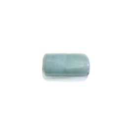 Ysblauwe staafvormige glaskraal