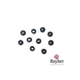 Zwarte rocaille Opaak  van Rayher