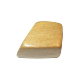 Lichtbruine houten blok kraal