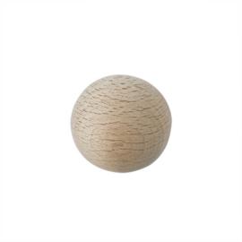 Grote houten ronde kraal 35 mm met gat