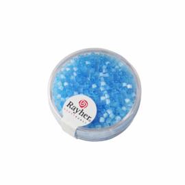 Lichtblauwe glasstift transparant 2x2 mm van Rayher.