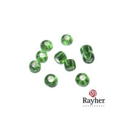 Groene rocaille met zilverkern 2,6mm van Rayher
