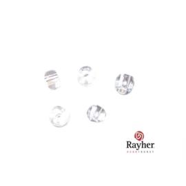 Kristalkleurig rocaille, 2,6 mm Transparant