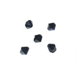 Onyx bicone Czech bead 4mm