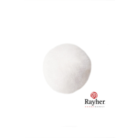 Witte pompon 20 mm van Rayher
