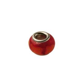 Glaskraal met rood en oranje strepen