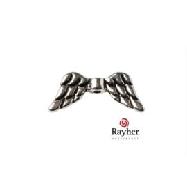 Zilverkleurig metalen ornament Vleugels