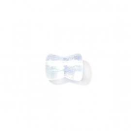 Doorzichtige diaboolvormige glaskraal