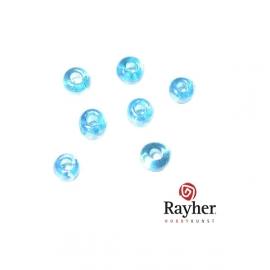 Turquoise rocaille Transparant Lustré 2,6 mm