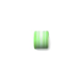 Groen met witte polyester kraal