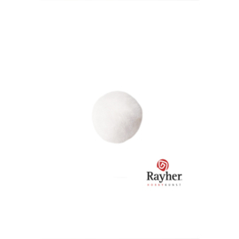 Witte pompon 10 mm van Rayher