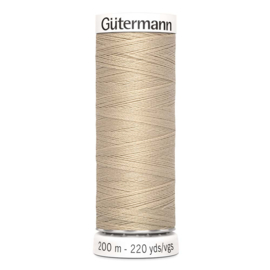 Nr 186 Beige Gutermann alles naaigaren 200 m