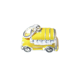 Schoolbus charm made of metal with yellow