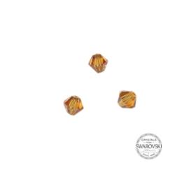 Topaz Swarovski bicone bead 4 mm