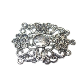 Metal pendant; suitable for rhinestone 3 mm