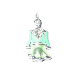 Green dress Charm made of metal