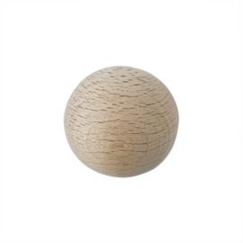 Grote houten ronde kraal 40 mm met gat