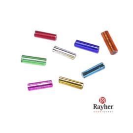 Gemengde kleur glasstift 7/2 mm met zilverkern van Rayher
