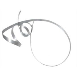 Zilverkleurig cadeaulint 5 mm