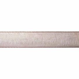 Organza lint donkerbruin 10 mm