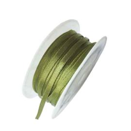 Satijn lint groen 4 mm