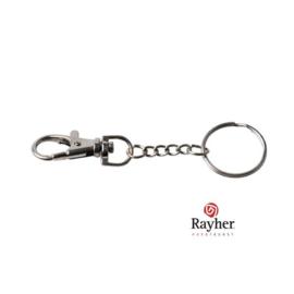 Zilverkleurige sleutelhanger van Rayher