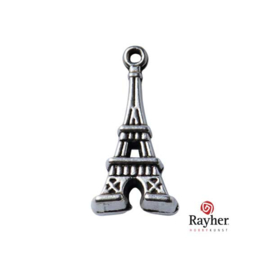 Silver colored metal deco hanger Eiffel Tower