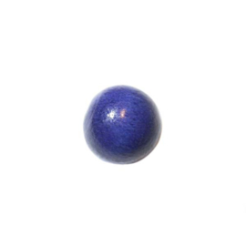 Blauwe ronde houten kraal