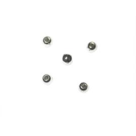 Zilverkleurige ronde kralen van plastic 3 mm, Rayher