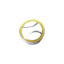 Metalen kraal Honkbal