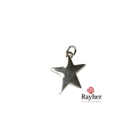 Silver colored metal pendant Star