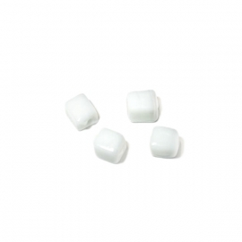 Wit vierkant glaskraaltje