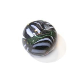 Grote, zwarte, ronde glaskraal