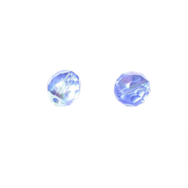 Blauwe glazen facetkraal 8 mm