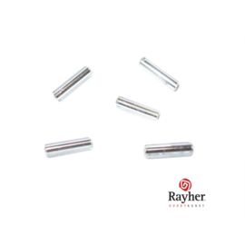 Zilverkleurige glasstift 7/2 mm met zilverkern