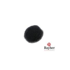 Zwarte pompon 15 mm van Rayher